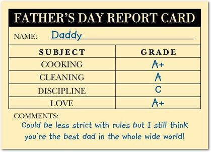 Snapshot Magnolia, Dads and Holiday messages - report card