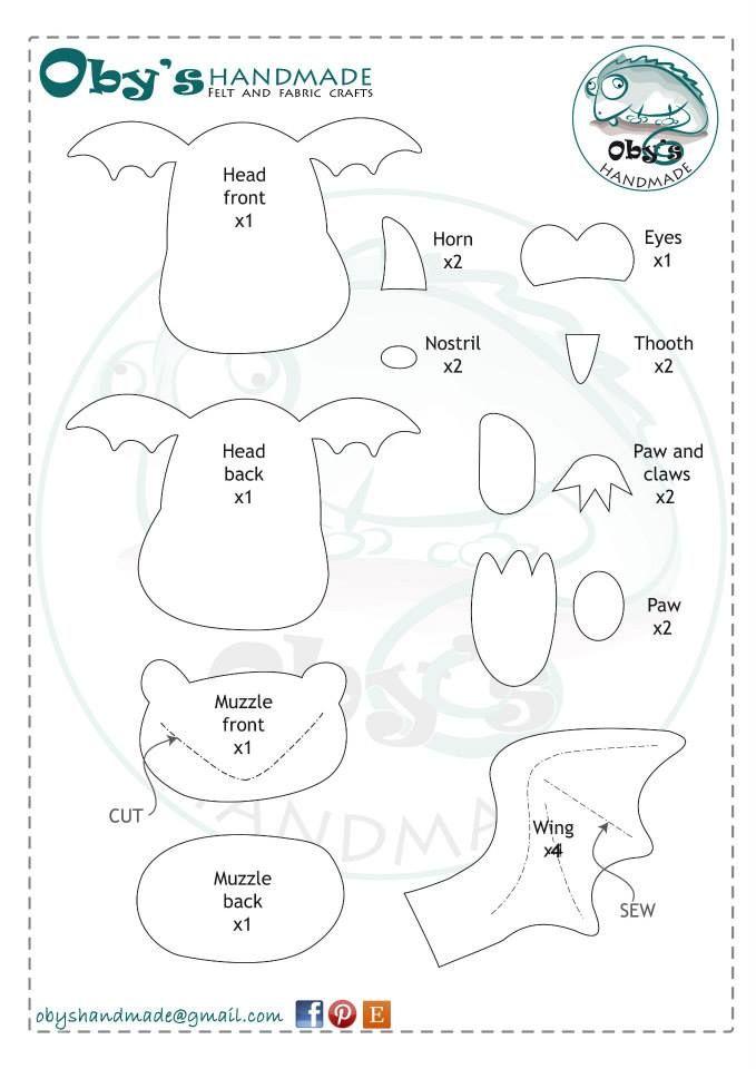 dragon | goma eva | Pinterest | Drachen, Puppen-Schnittmuster und Filz