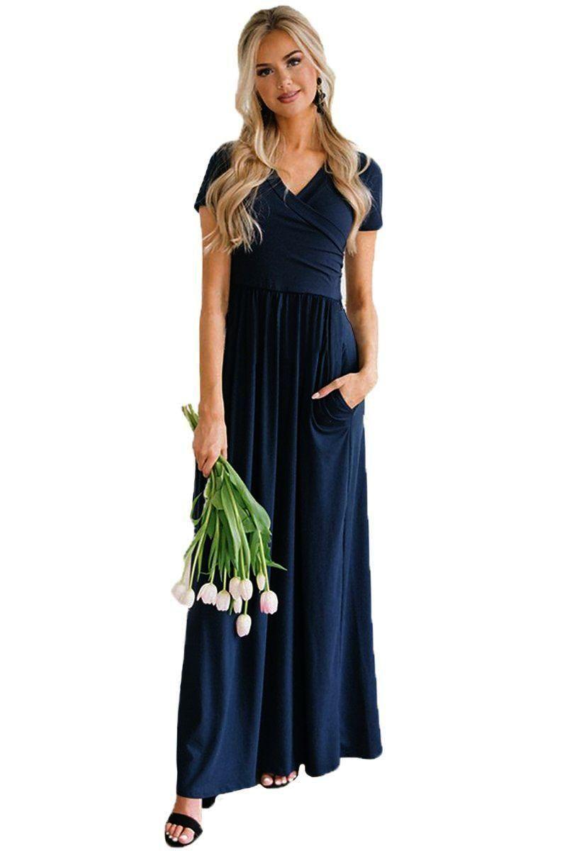 Cute maxi romper dress v neck short maxi dress maxi dresses