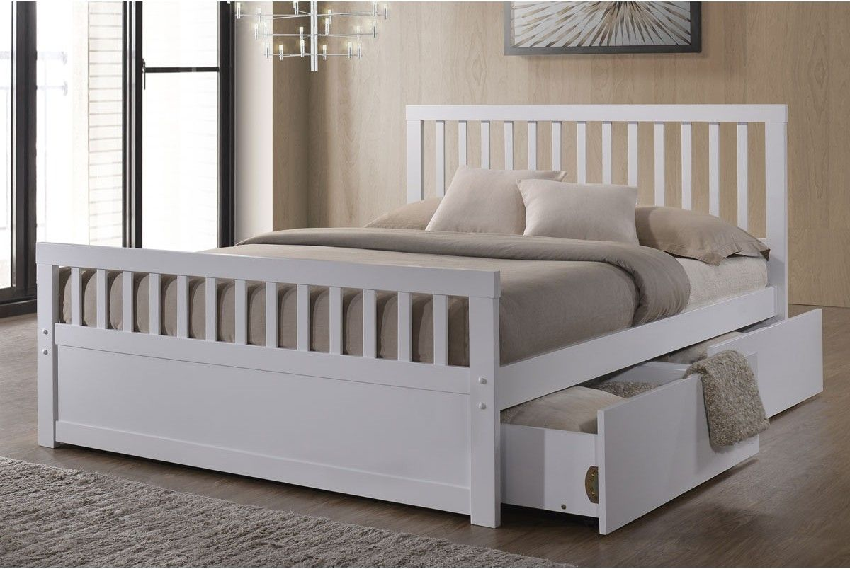 White Double Bed Frame With Drawers White Double Bed Frame Bed Frame With Drawers White Double Bed