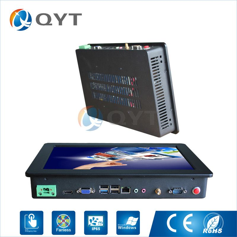 widescreen 12 inch Resistive touch all in one PC Inter N3150