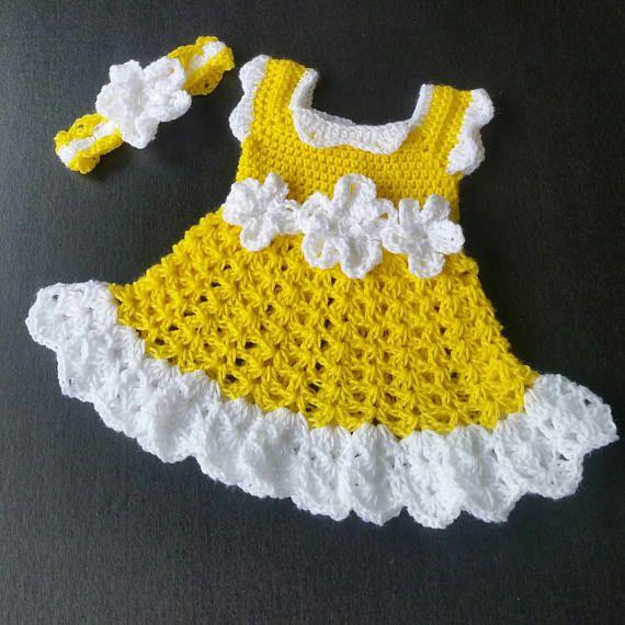 ac6b96392 Baby Crochet Dress