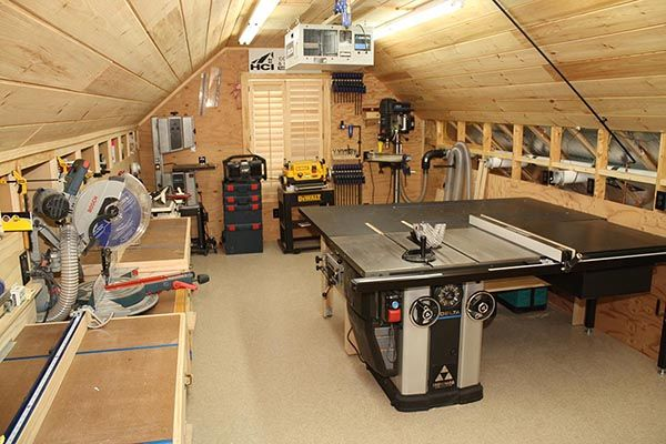 Workshop designs and ideas workshop design layouts for Small basement workshop ideas