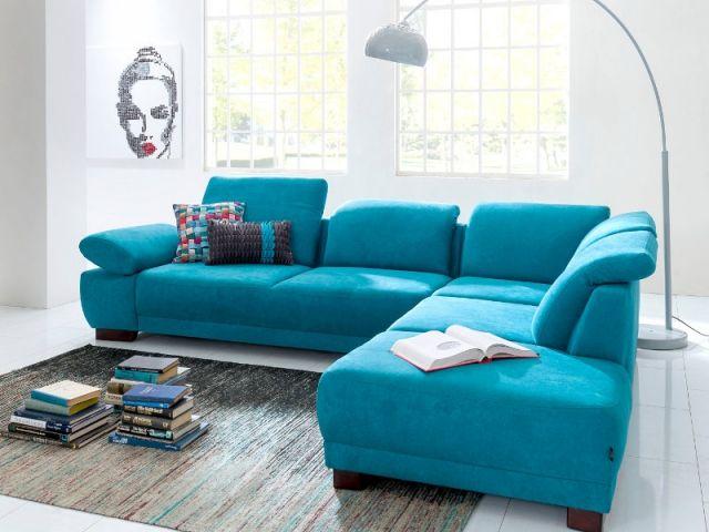 Aménager son salon : un canapé coloré pour un décor stylé | Canapé ...