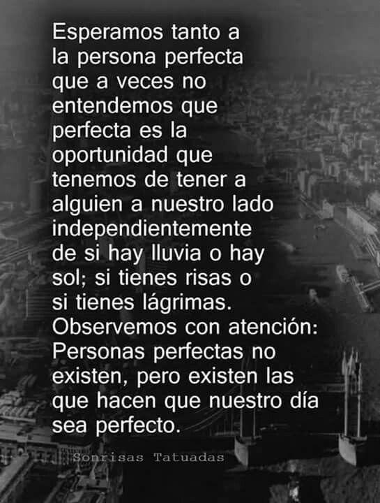 Personas Perfectas No Existen