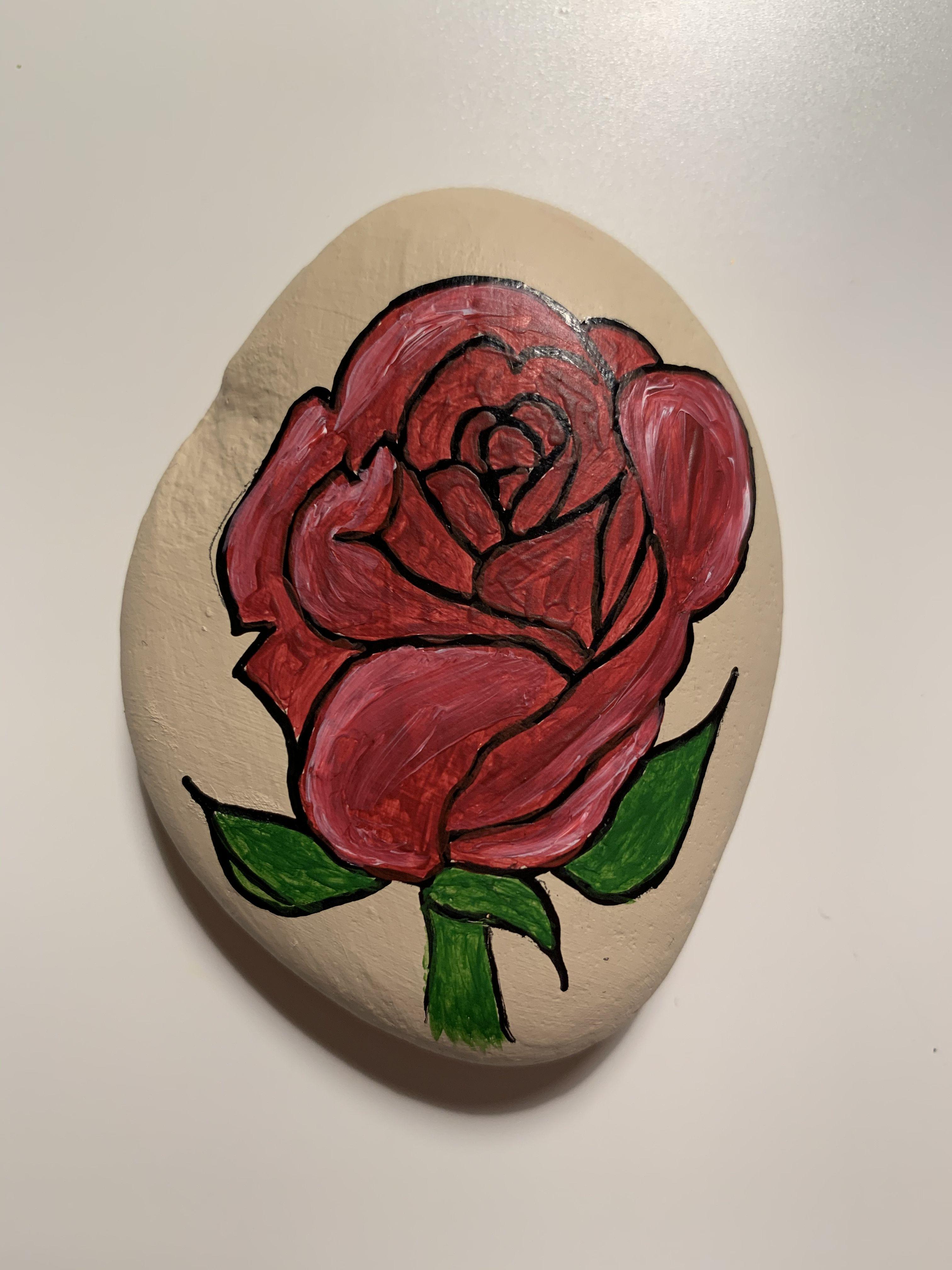 Steinmalerei Rose Steine Bemalen Steinmalerei Steine