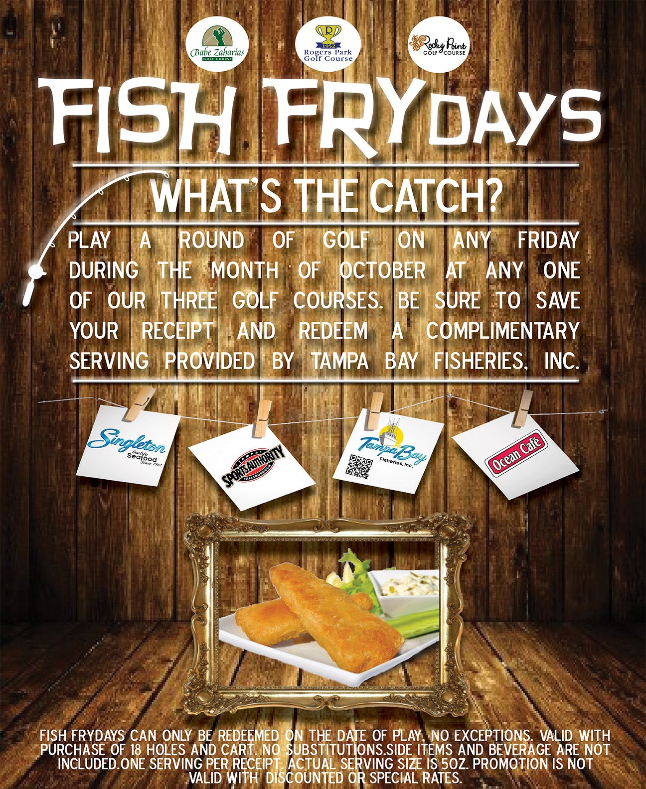 Fish FRYdays at any of our 3 golf courses Rocky Point