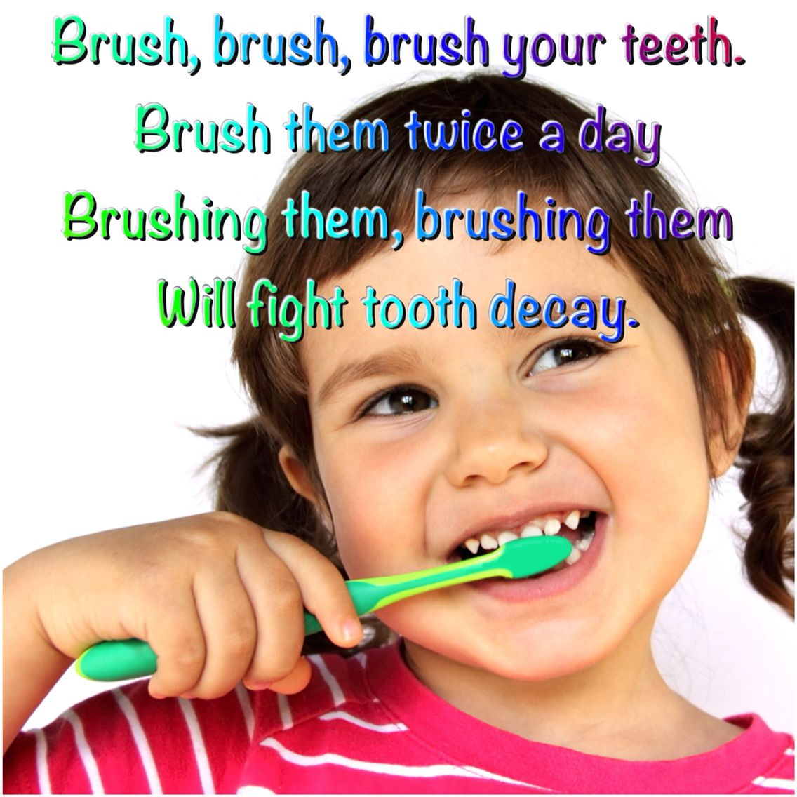 A song about brushing your teeth. It's the tune of Row