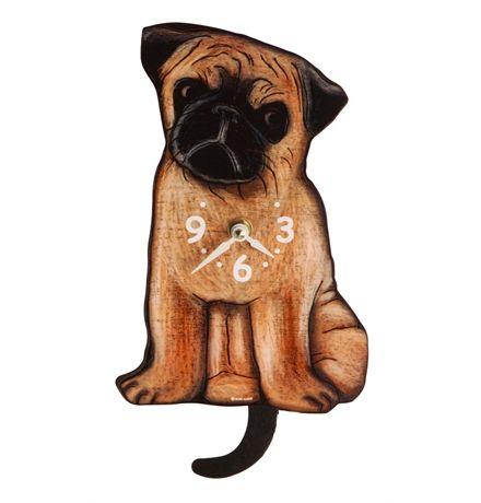 Handmade in the USA - Pug Dog Clock main image