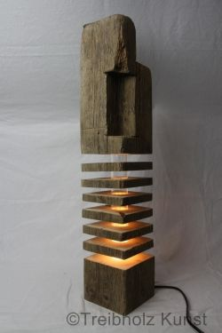 Treibholz Altholz Designlampe - www.treibholz-bodensee.de ...
