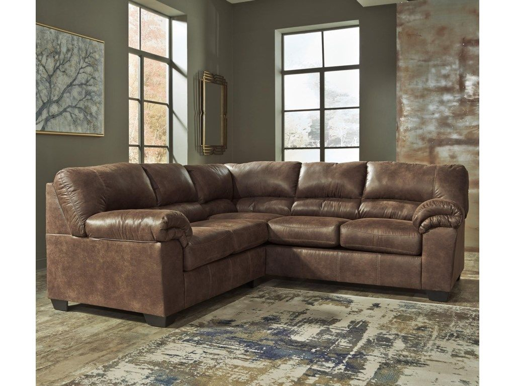 Best Bladen 2 Piece Faux Leather Sectional By Signature Design 400 x 300