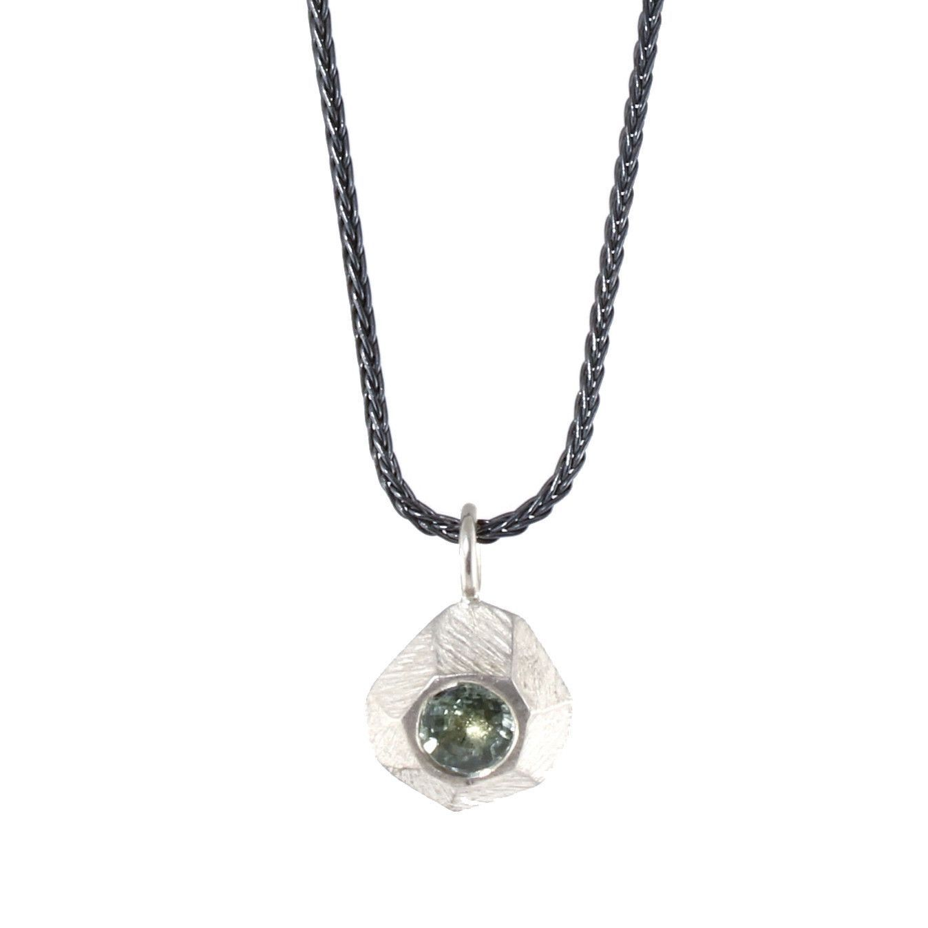 Sterling silver rock with green sapphire pendant by dahlia kanner sterling silver rock with green sapphire pendant by dahlia kanner aloadofball Image collections
