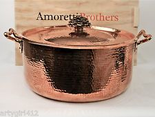 Large Amoretti Brothers Fiore 11.5 Quart Copper Hand-Hammered Pan 1325.00 msrp