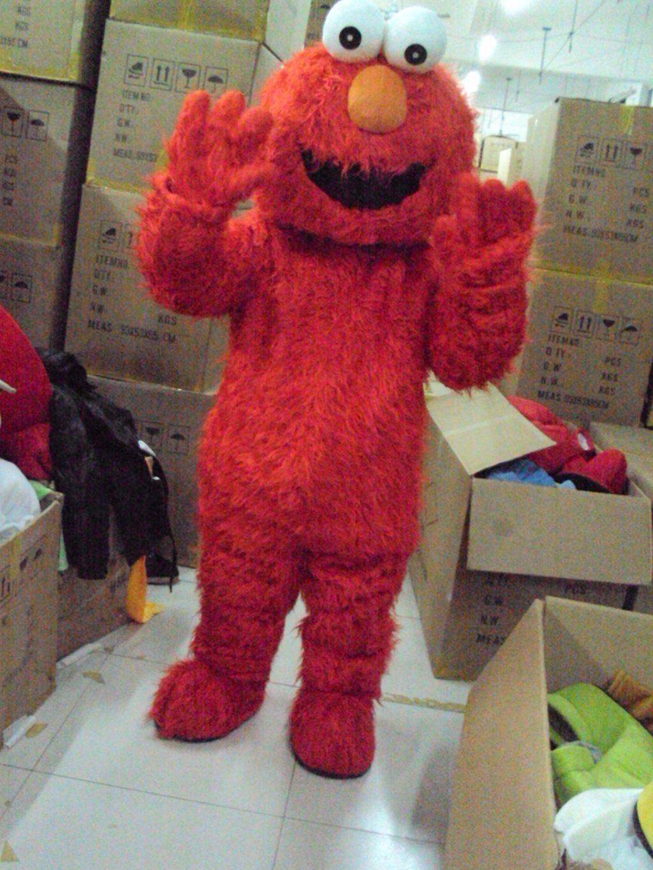 Heißer Verkauf Erwachsene Elmo Red Monster Maskottchen Kostüm Party ...