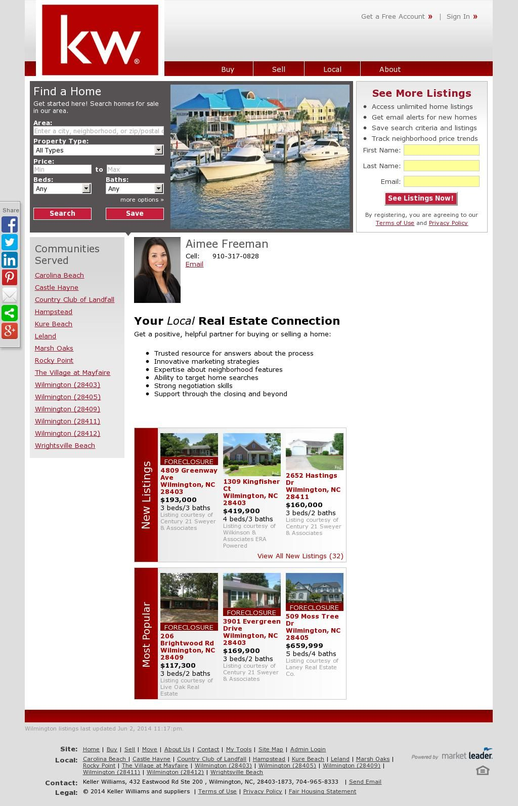 Wilmington NC real estate Wrightsville Beach NC real estate Leland