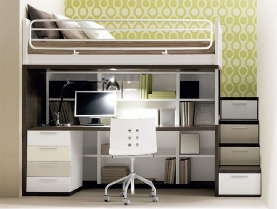 office bunk bed. Teen Room, Small Bedroom Design Ideas With White Chest Of Drawer Simple Work Table And Computer For Furniture Office Bunk Bed Pinterest