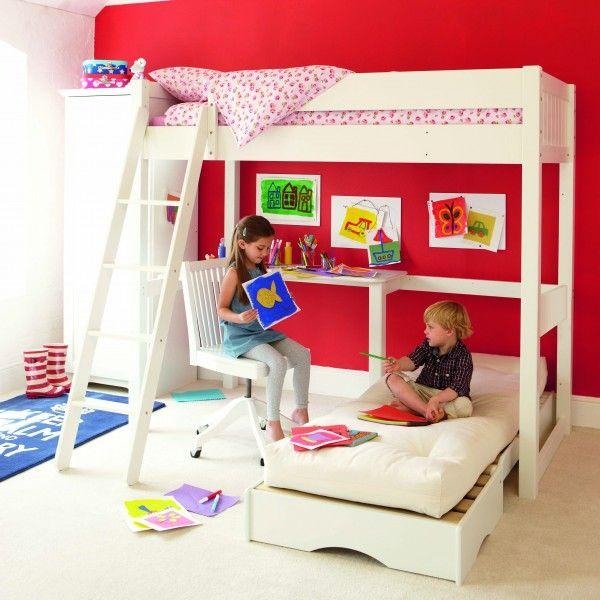 Warwick High Sleeper with Futon Girl s Room Pinterest