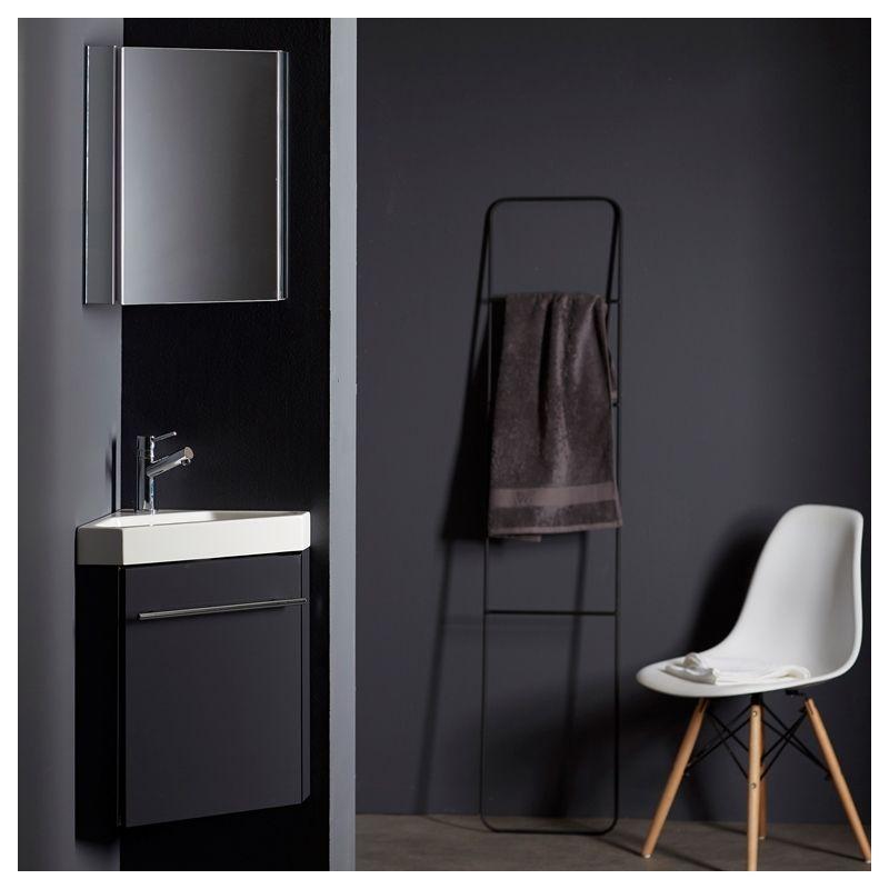 Cet ensemble meuble lave-mains d\u0027angle est à installer dans vos wc