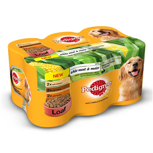 Pedigree Variety White Meat Maize 4 x 6 x 400g Pedigree Variety White Meat Maize shows off the fact that Pedigree are passionate about great nutrition to keep your dog happy and healthy.