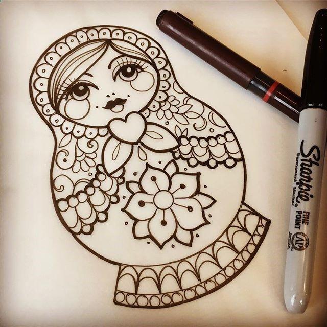 russian doll tattoo drawings pinterest tattoo vorlagen tattoo ideen und russland. Black Bedroom Furniture Sets. Home Design Ideas
