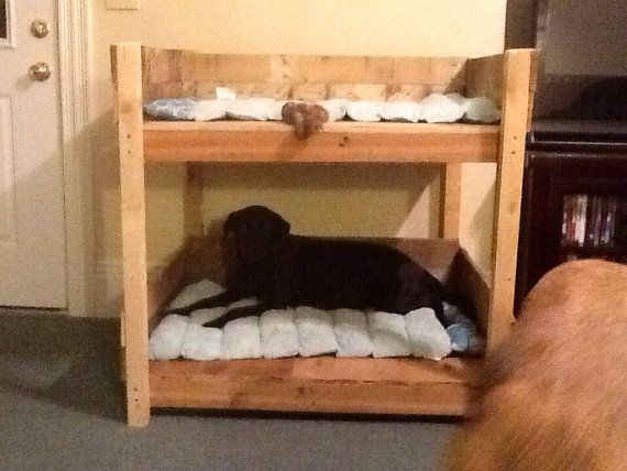Rustic Dog Pet Bunkbed for and Extra by SameAsNever
