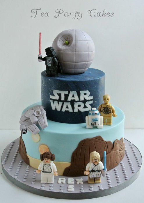 Lego Star Wars Cake Baby Birthday Star Wars Cake Lego Cake