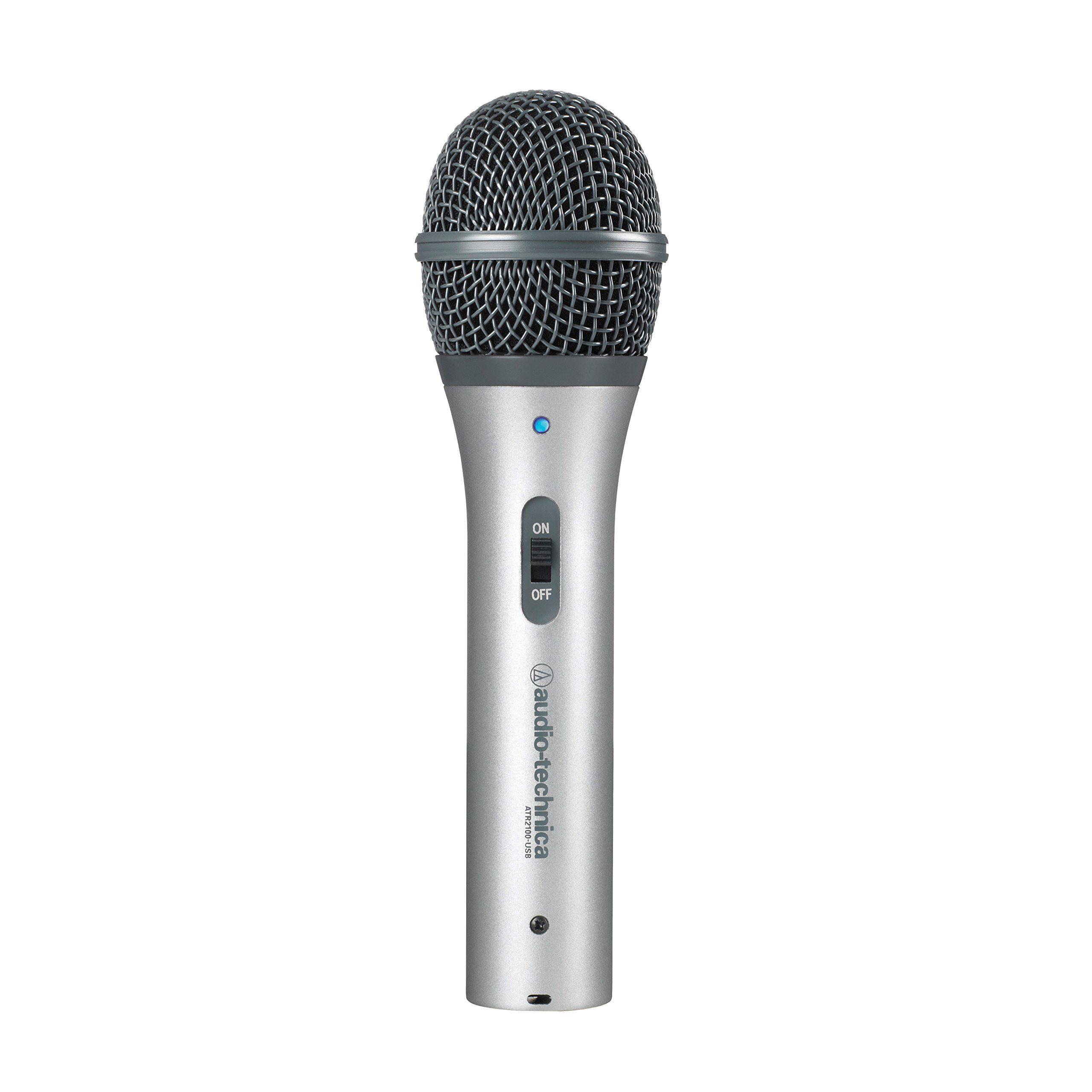 Amazon Com Audio Technica Atr2100 Usb Cardioid Dynamic Usb Xlr Microphone Musical Instruments Audio Technica Usb Microphone Microphone