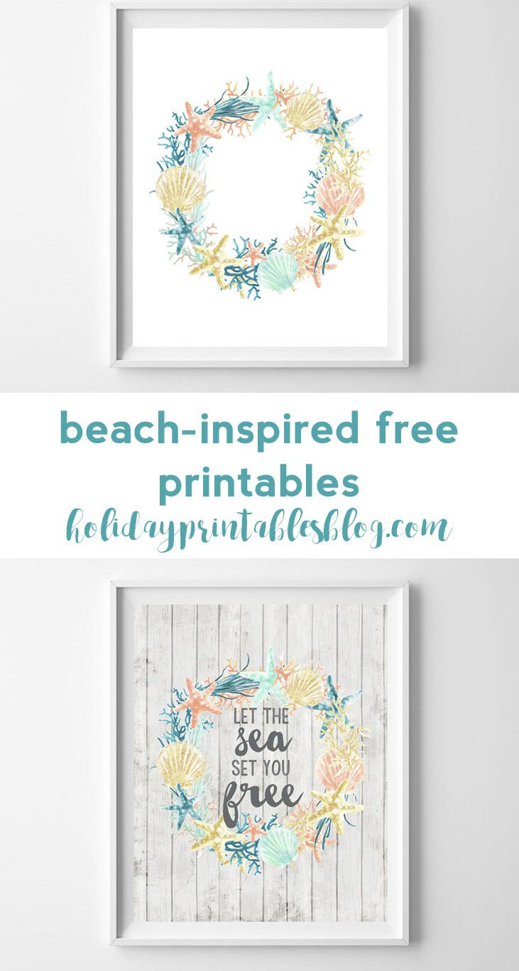 Coastal Inspired Summer Printable Art Free Printable Wall Art Printable Art Summer Printables