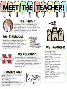 Meet The Teacher Newsletter Editable Beach Theme  Teacher