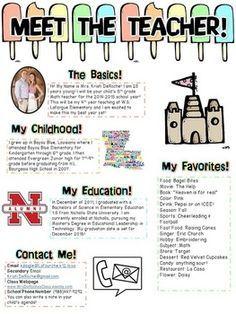 Meet The Teacher Newsletter Editable Beach Theme  Teacher