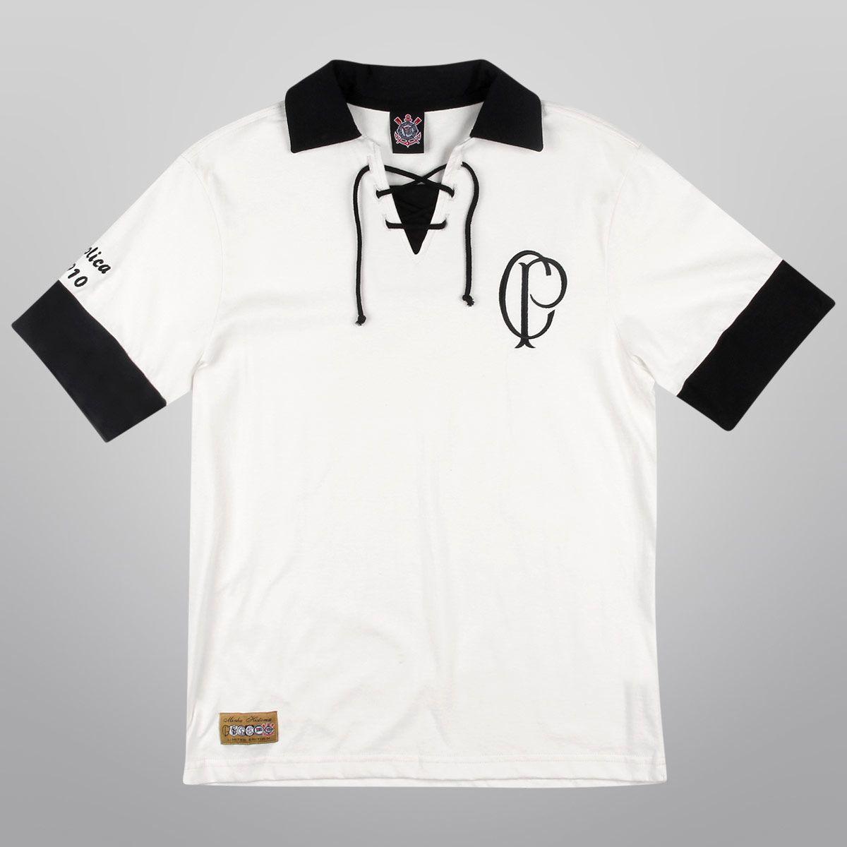 Camiseta Retrô Corinthians - Réplica 1910 - Shoptimão  55f8038f62db1