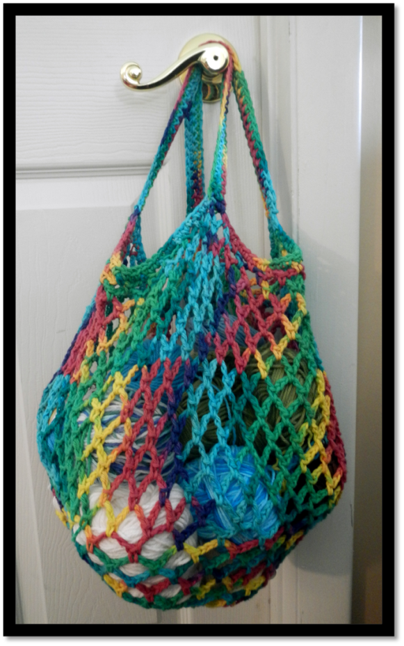 Crochet Market Bag. Click the link leads to more free pattern ...