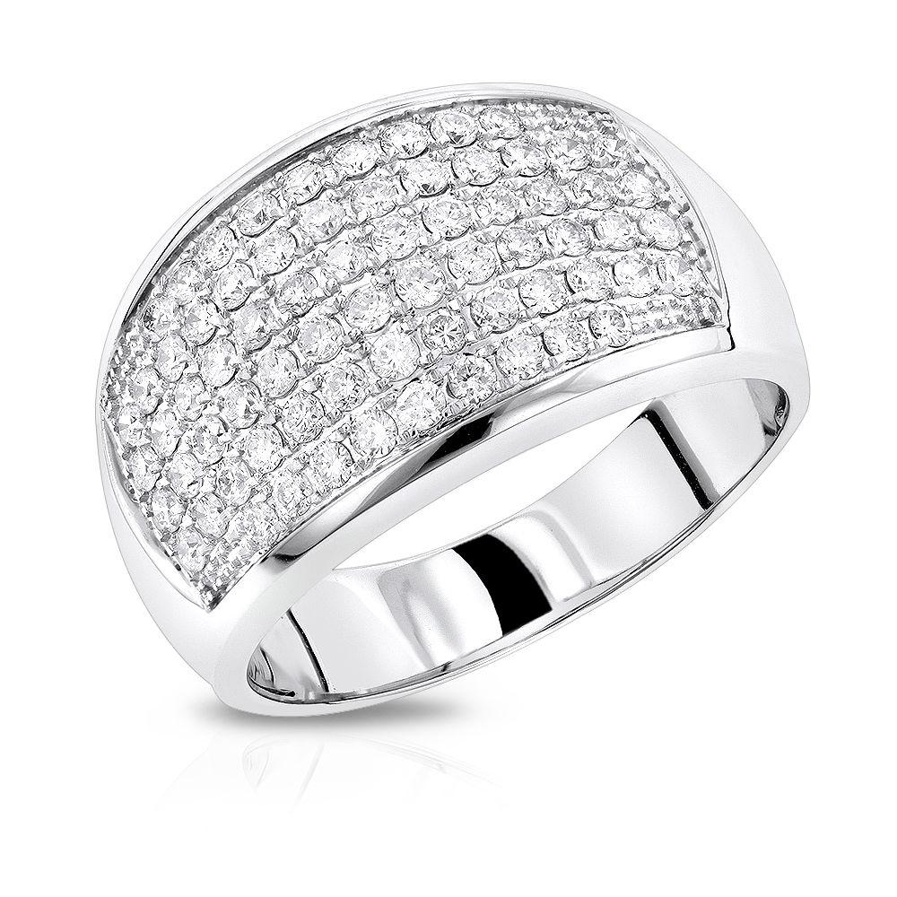 mens diamond rings 14k gold diamond band by luxurman 1. Black Bedroom Furniture Sets. Home Design Ideas