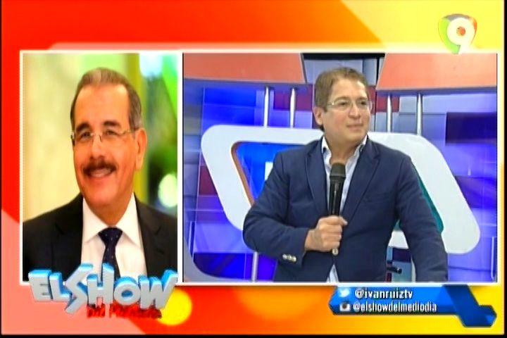 La Llamada De Danilo Medina Al Show Del Mediodía Pidiendo Que Voten Por Él