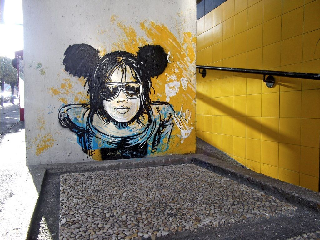 Mickey Mouse Rock by Alice Pasquini in Rome | Concrete Ink [By ...