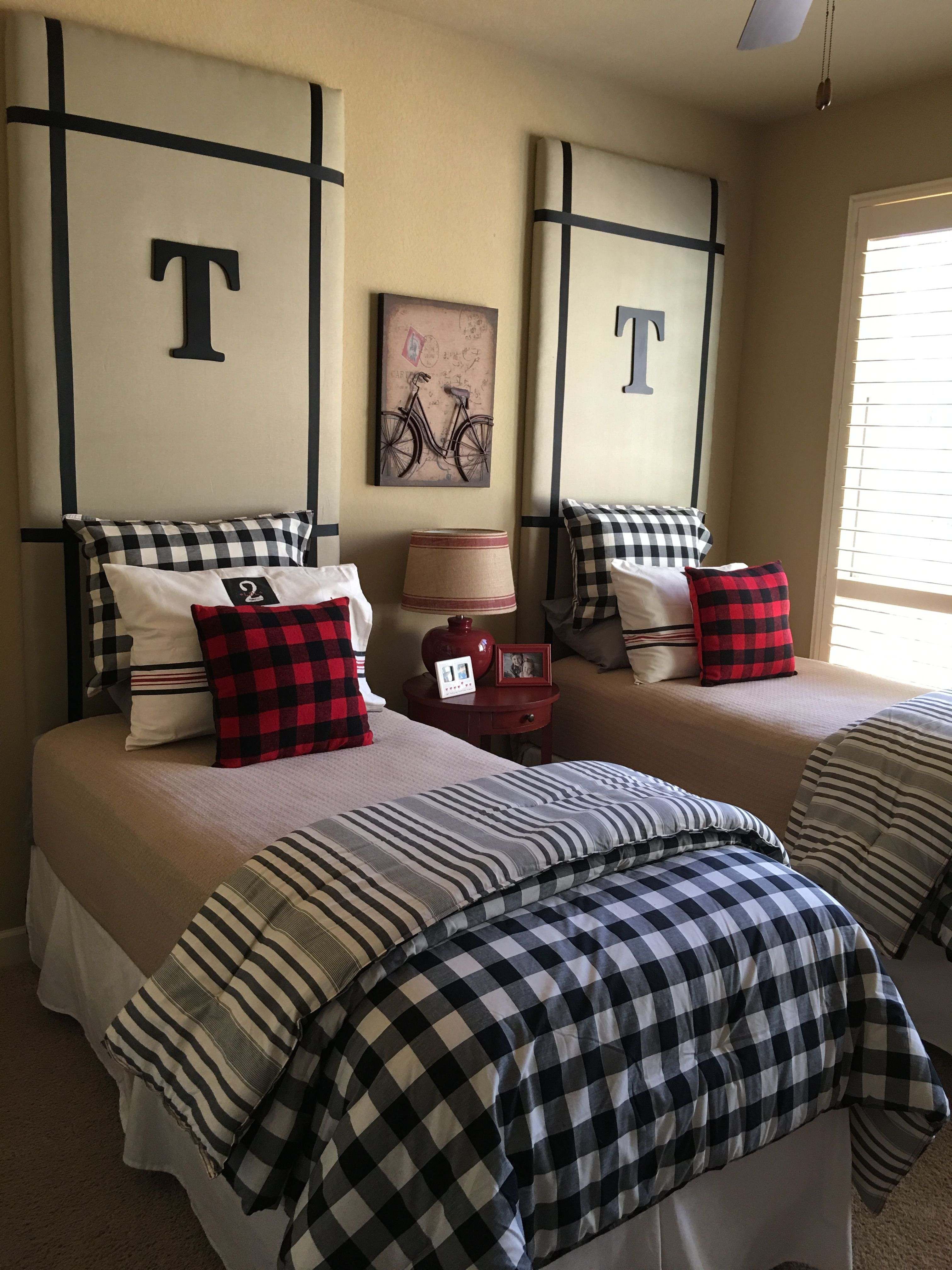 Love Our G Kids Room With The Buffalo Check Comforters And