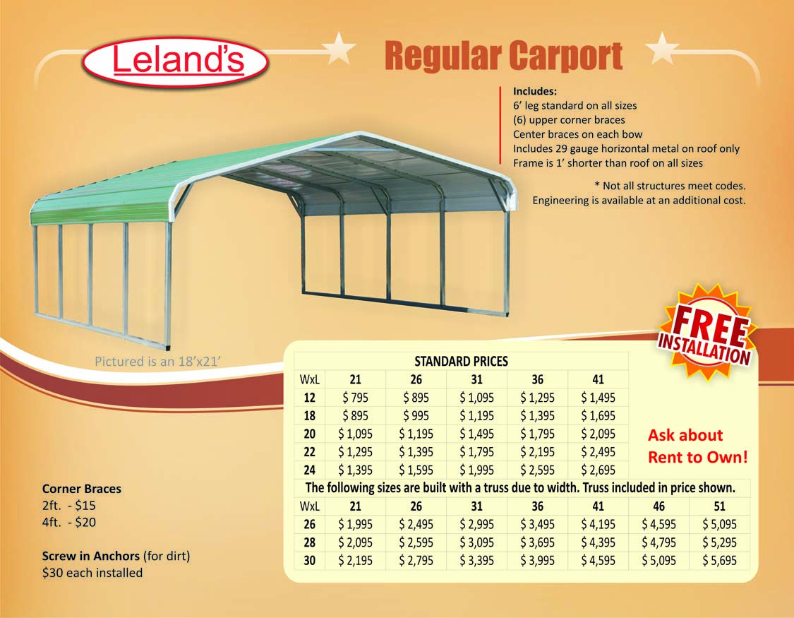 Prefab Portable Metal Carports for Sale Cheap Payments