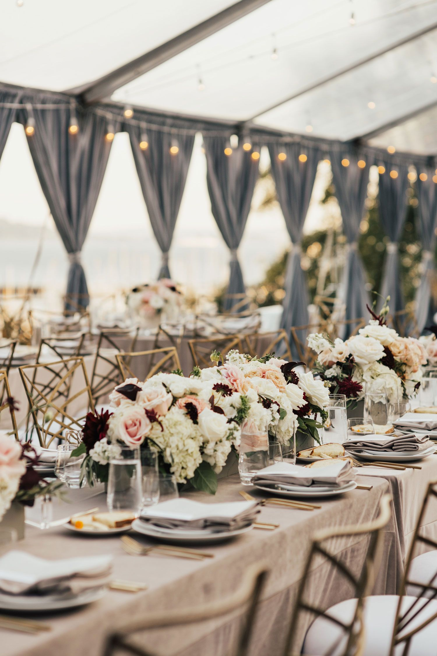 Modern Outdoor Ceremony + Tent Reception in Seattle on ...