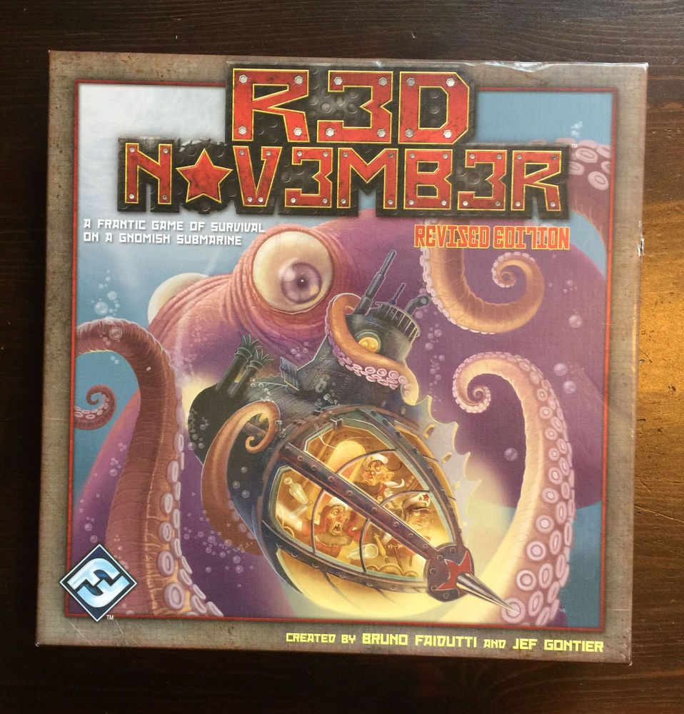 RED NOVEMBER GNOMISH SUBMARINE board game FANTASY FLIGHT