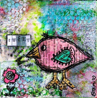 Mixed Media bird