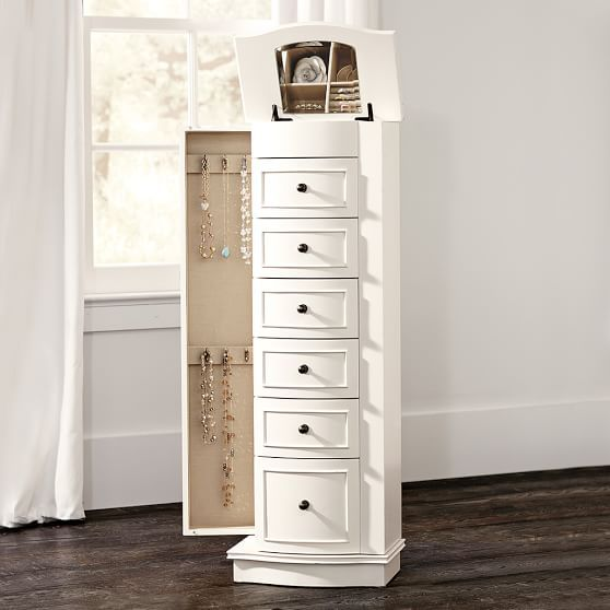 350 chelsea large jewelry armoire simply white - Large Jewelry Armoire
