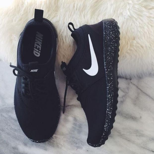 Nike kvinnor män springa sport sneakers skor in 2020 | Black