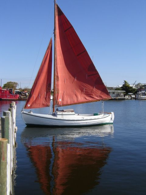 """Sjogin"". Double-ended lapstrake sailboat 