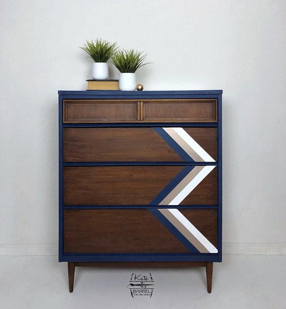 Best Vintage Mid Century Modern Mcm Tall Dresser Bassett 400 x 300