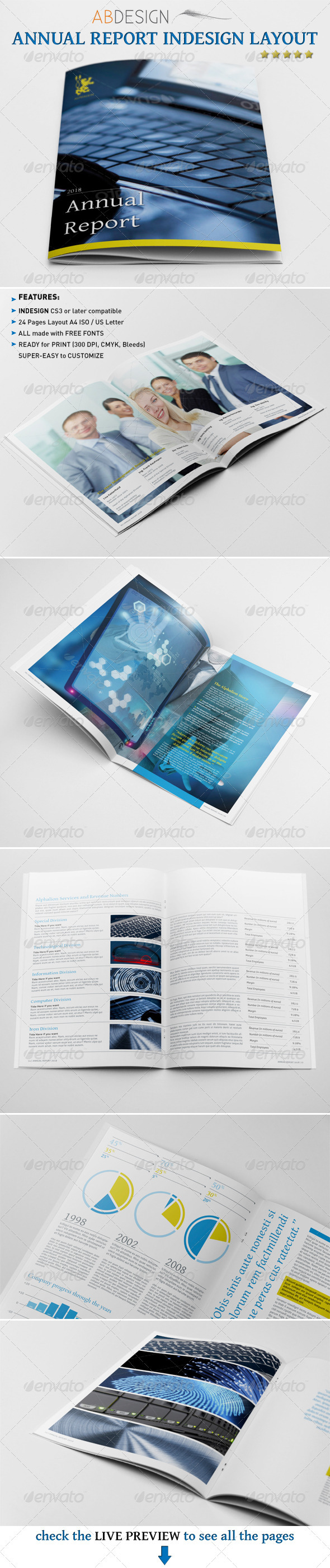 Annual Report Indesign Layout #GraphicRiver This is a complete ...