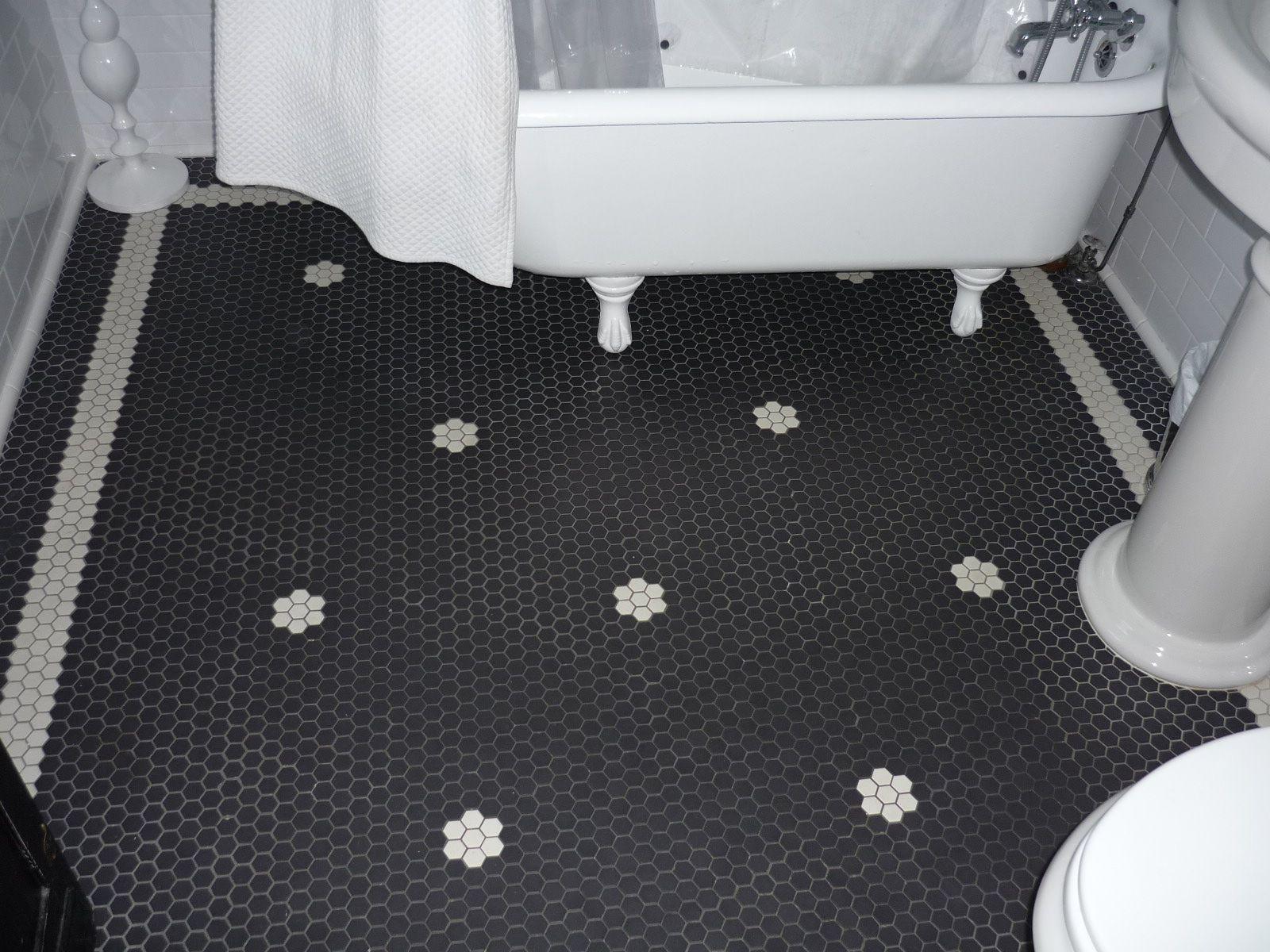 Love This Antique Reproduction Hex Tile Floor