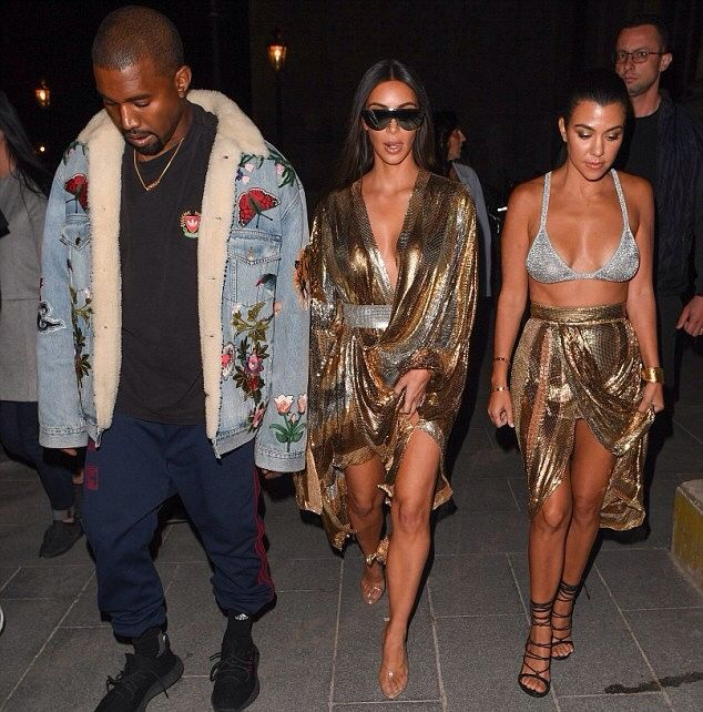 September 29th, 2016 - Kim, Kanye and Kourtney out in Paris