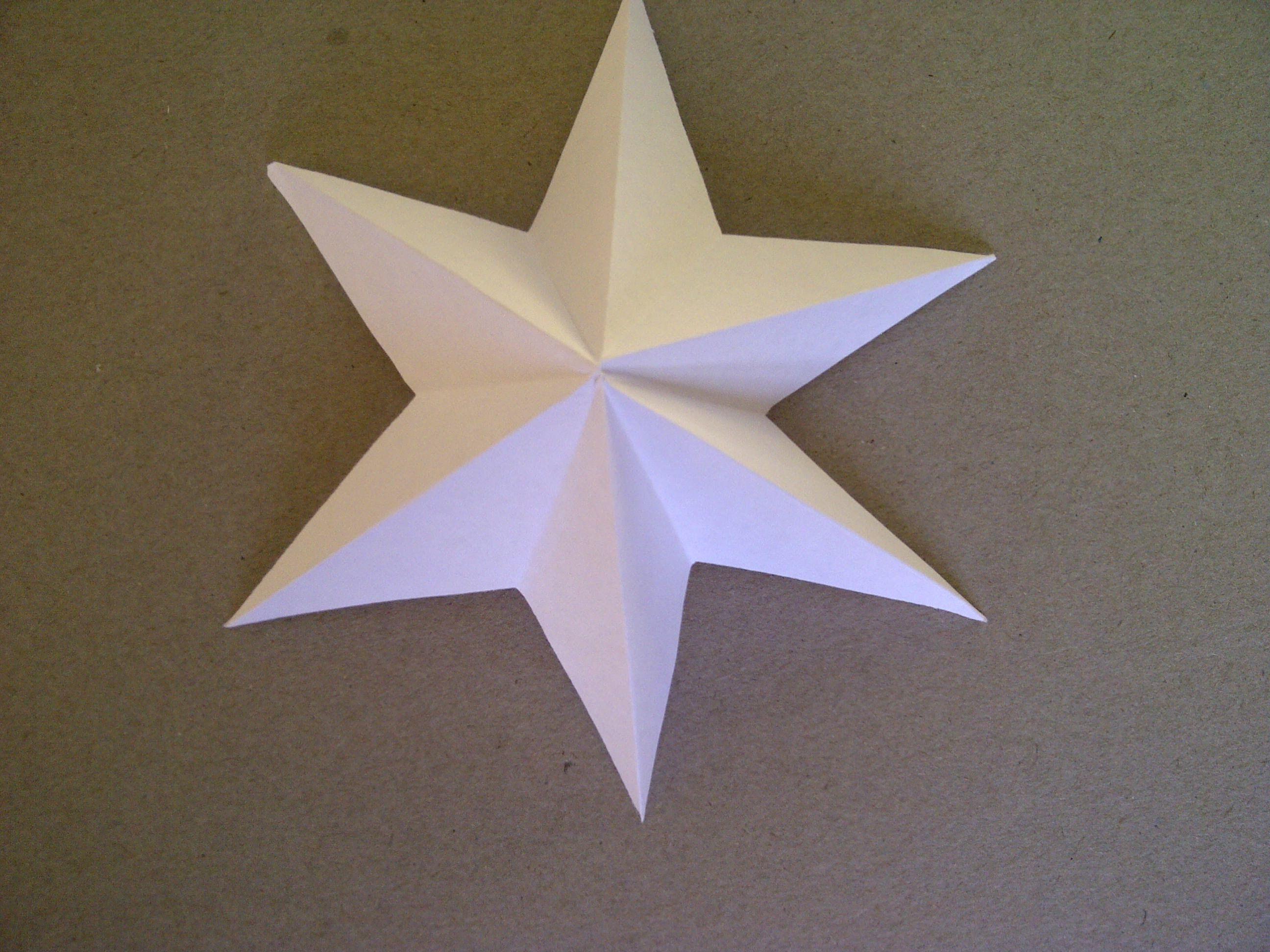 Extrem 3D-Sterne basteln. 6-zackiger Stern aus Papier falten sehr einfach WA63