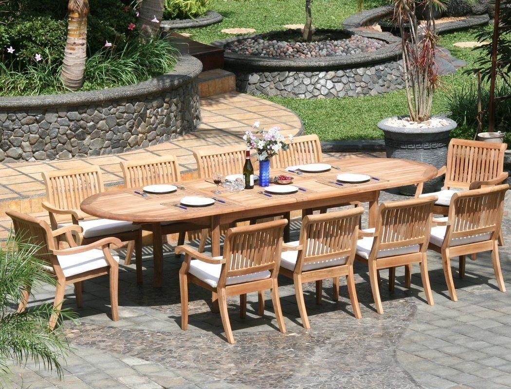 Large Round Teak Outdoor Dining Table Teak Patio Table Patio