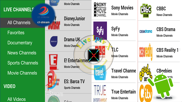 Live Streaming TV Channels On Android With CT Streams Apk